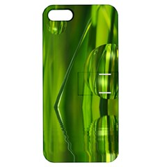 Green Bubbles  Apple iPhone 5 Hardshell Case with Stand