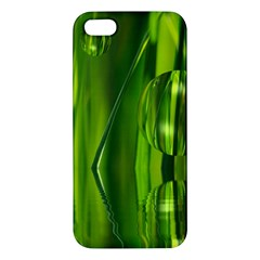 Green Bubbles  iPhone 5 Premium Hardshell Case