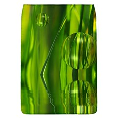 Green Bubbles  Removable Flap Cover (large)