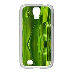 Green Bubbles  Samsung GALAXY S4 I9500/ I9505 Case (White)