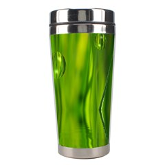 Green Bubbles  Stainless Steel Travel Tumbler