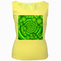 Magic Balls Womens  Tank Top (Yellow)