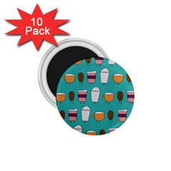 Time for coffee 1.75  Button Magnet (10 pack)