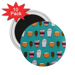 Time For Coffee 2 25  Button Magnet (10 Pack)