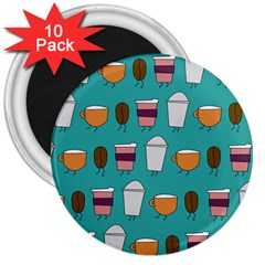 Time For Coffee 3  Button Magnet (10 Pack)