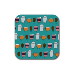 Time For Coffee Drink Coasters 4 Pack (square)