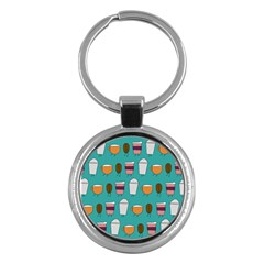 Time for coffee Key Chain (Round)