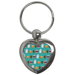 Time for coffee Key Chain (Heart)