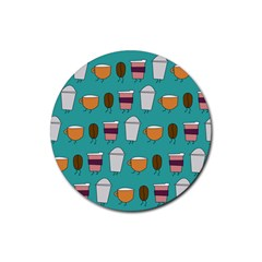 Time for coffee Drink Coasters 4 Pack (Round)