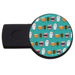 Time For Coffee 4gb Usb Flash Drive (round)