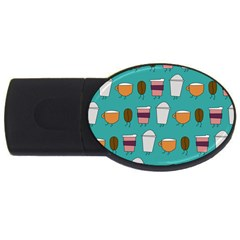 Time For Coffee 4gb Usb Flash Drive (oval)