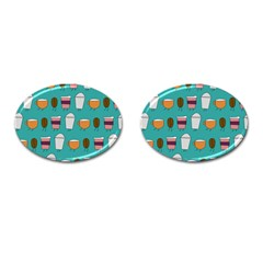 Time for coffee Cufflinks (Oval)