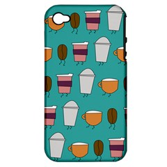 Time For Coffee Apple Iphone 4/4s Hardshell Case (pc+silicone)