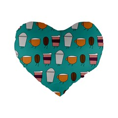 Time for coffee 16  Premium Heart Shape Cushion