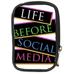 Life before social media Compact Camera Leather Case