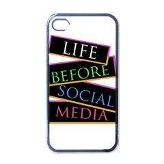 Life Before Social Media Apple Iphone 4 Case (black)