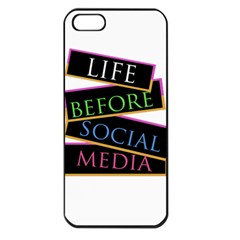 Life Before Social Media Apple Iphone 5 Seamless Case (black)