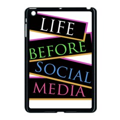Life Before Social Media Apple Ipad Mini Case (black)