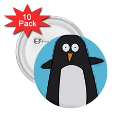 Hello Penguin 2 25  Button (10 Pack)