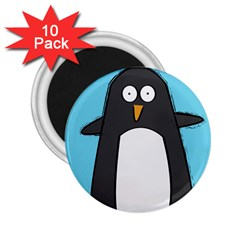 Hello Penguin 2 25  Button Magnet (10 Pack)