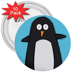 Hello Penguin 3  Button (10 pack)