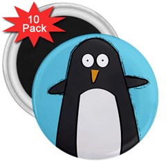 Hello Penguin 3  Button Magnet (10 pack)