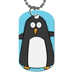 Hello Penguin Dog Tag (One Sided) Front