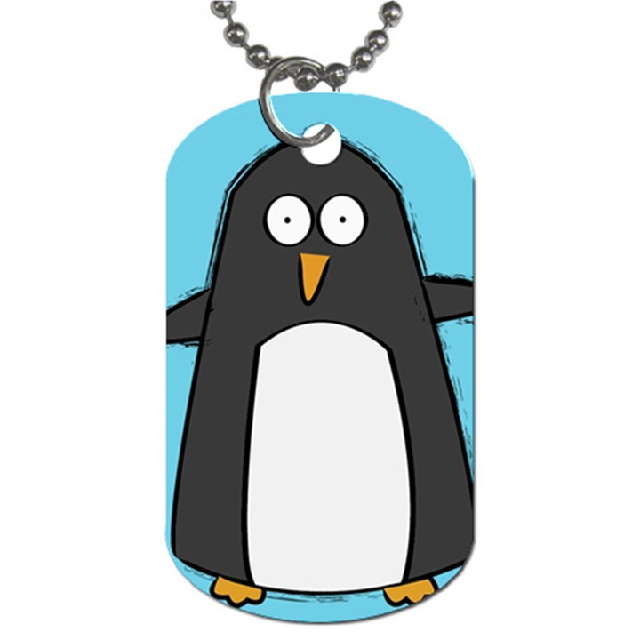 Hello Penguin Dog Tag (One Sided)