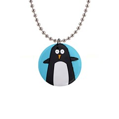 Hello Penguin Button Necklace