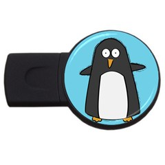 Hello Penguin 4GB USB Flash Drive (Round)