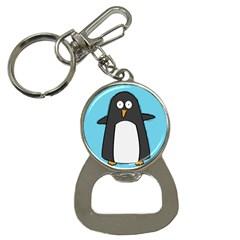 Hello Penguin Bottle Opener Key Chain