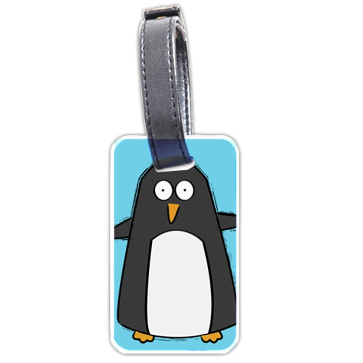 Hello Penguin Luggage Tag (One Side)