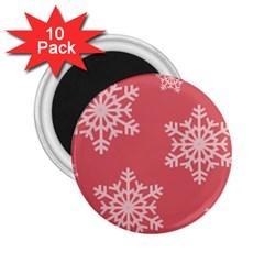 Let It Snow 2 25  Button Magnet (10 Pack)