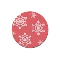 Let It Snow Magnet 3  (round)