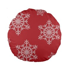 Let It Snow 15  Premium Round Cushion