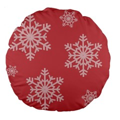 Let it snow 18  Premium Round Cushion