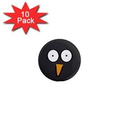 Penguin Close Up 1  Mini Button Magnet (10 pack)