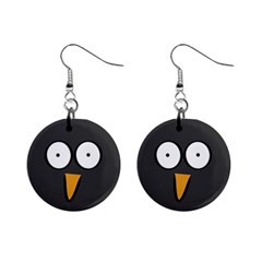 Penguin Close Up Mini Button Earrings