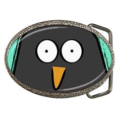 Penguin Close Up Belt Buckle (oval)