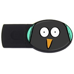 Penguin Close Up 4GB USB Flash Drive (Oval)