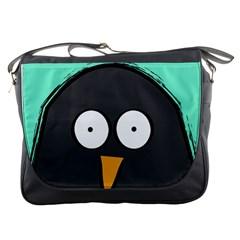 Penguin Close Up Messenger Bag