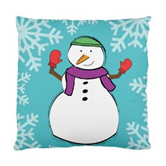 Snowman Cushion Case (two Sided)