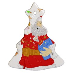 Santa Surprise Christmas Tree Ornament (two Sides)