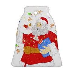Santa Surprise Bell Ornament (two Sides)