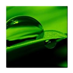 Green Drop Ceramic Tile