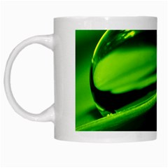 Green Drop White Coffee Mug