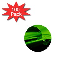 Green Drop 1  Mini Button (100 pack)