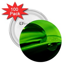 Green Drop 2.25  Button (100 pack)