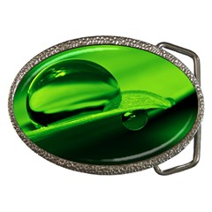 Green Drop Belt Buckle (Oval)
