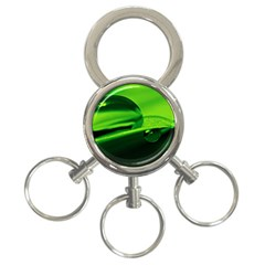 Green Drop 3-Ring Key Chain